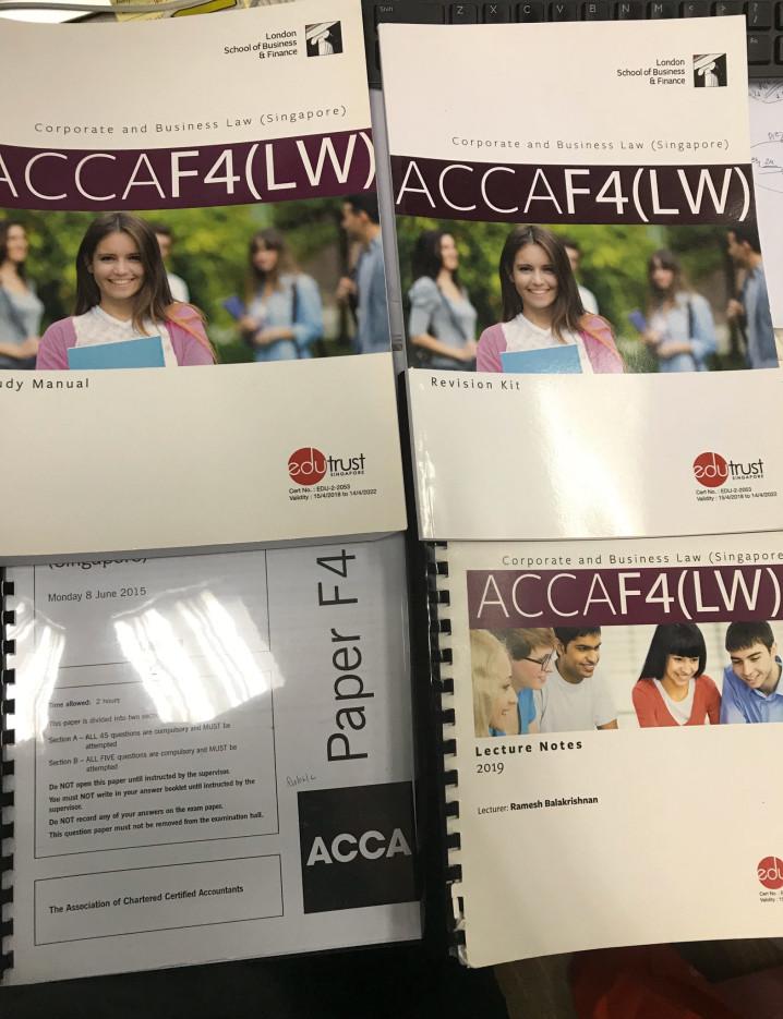 ACCA LSBF F4, F5 교재 > 벼룩시장 | 싱가포르 한인 정보